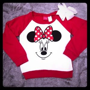 Disney Minnie Mouse Face Sweatshirt size 4